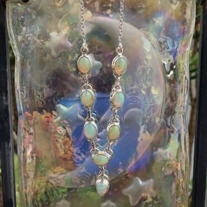 Genuine Ethiopian Opal Sterling Silver Necklace